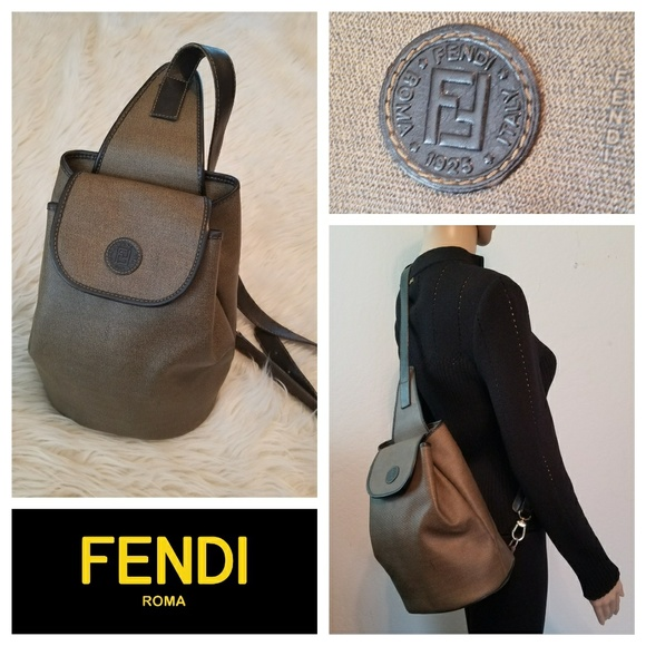 fe9385641412 Fendi Handbags - Mint FENDI Pequin Sling Crossbody Backpack Bag